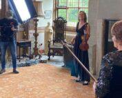 Capriccio String Quartet filming